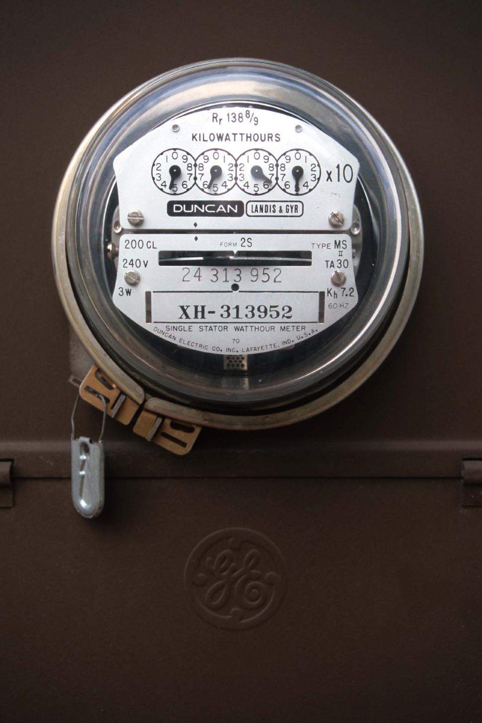Download Free Stock HD Photo of Electric utility meter Online
