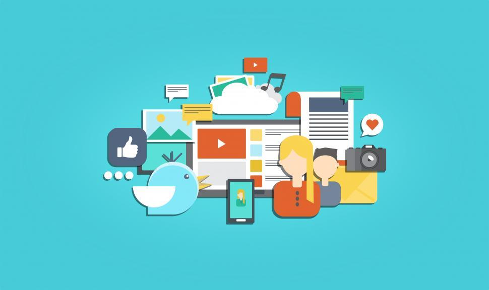 Download Free Stock HD Photo of Social Media and Social Marketing - Illustration Online