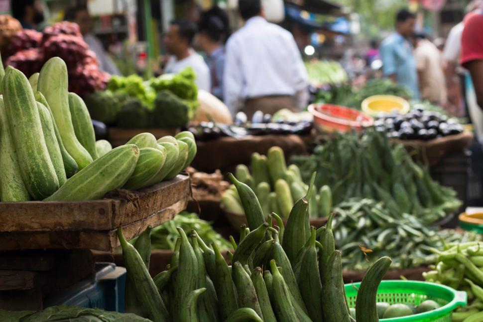 Download Free Stock HD Photo of Vegetable Market Details Online