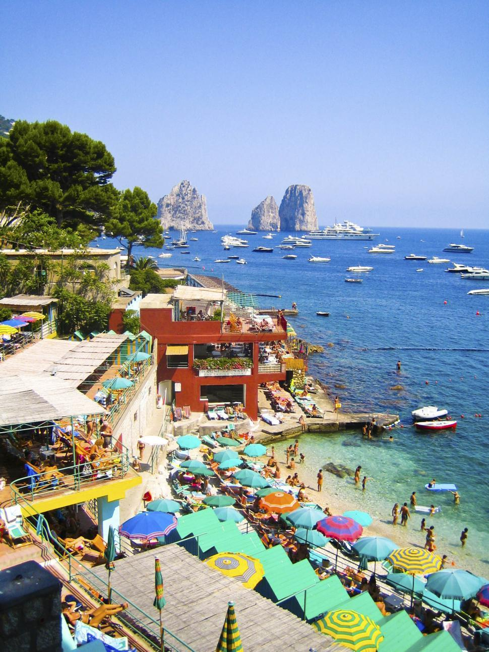Download Free Stock HD Photo of Beach in Capri Online