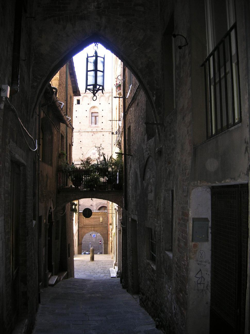 Download Free Stock HD Photo of old medieval street Online