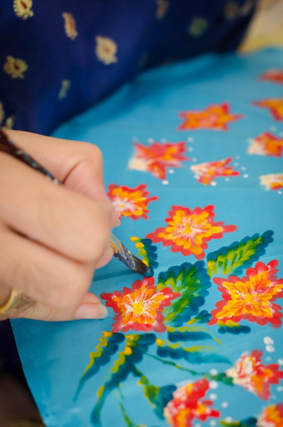 Download Free Stock HD Photo of Hand Painting Umbrella Pattern Online