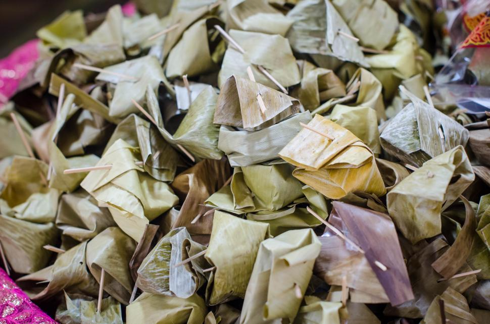 Download Free Stock HD Photo of Wrapped Thai snack  Online