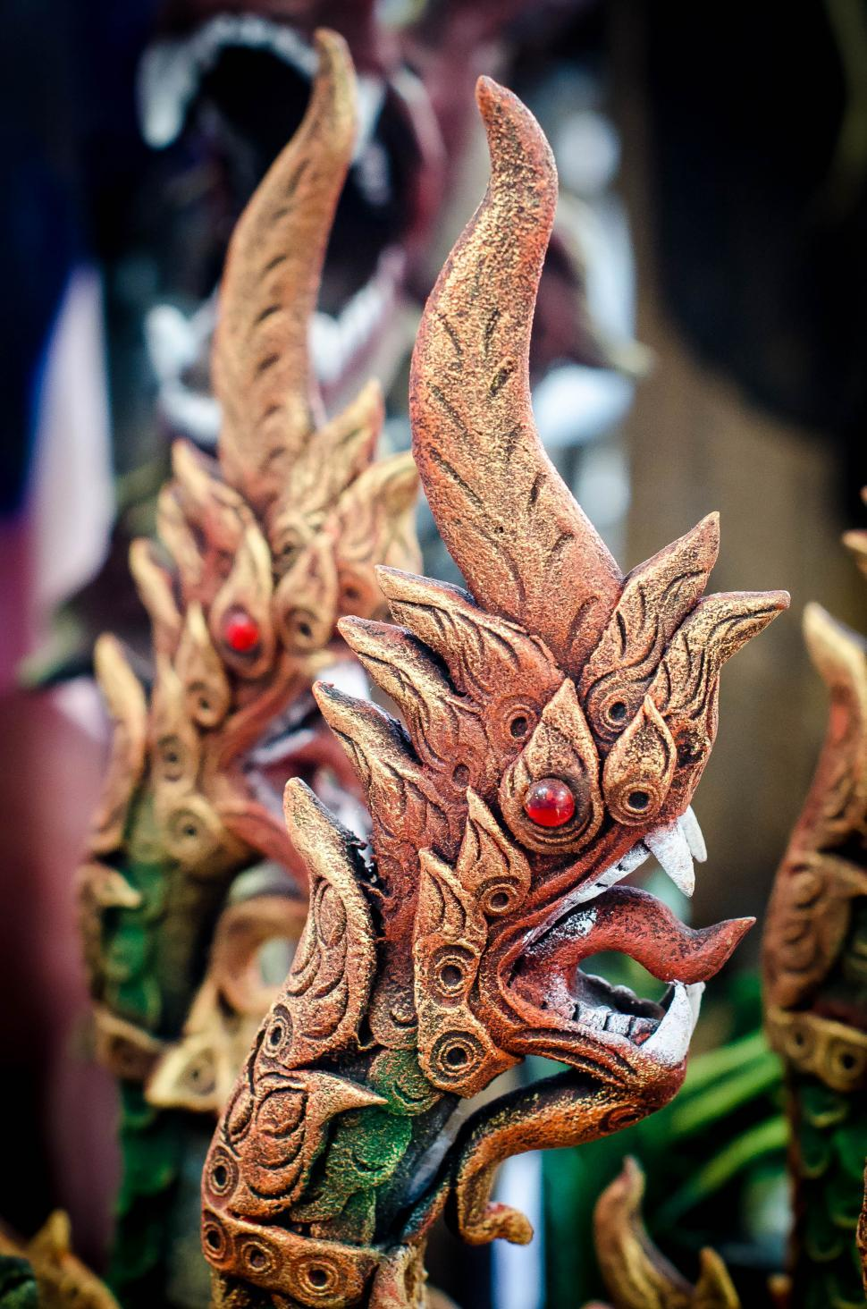 Download Free Stock HD Photo of Snake head a Ya Nark in a Thai's legend  Online