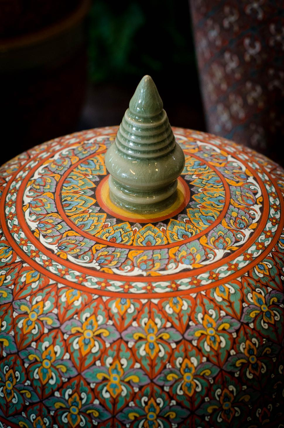 Download Free Stock HD Photo of Thai pattern style jar Online