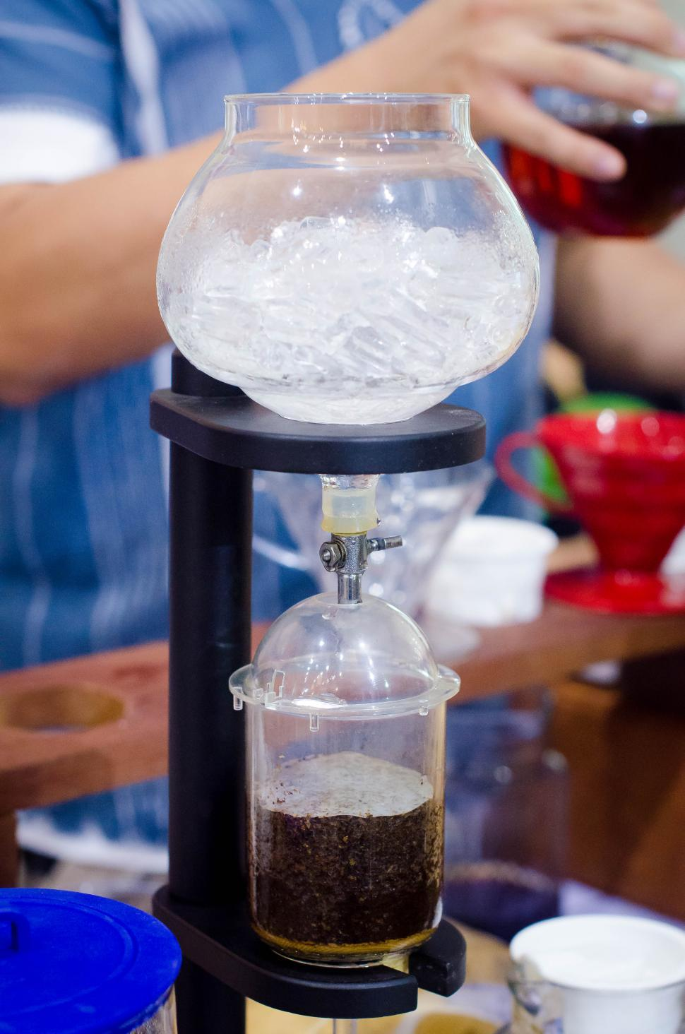 Download Free Stock HD Photo of Ice in Coffee maker  Online