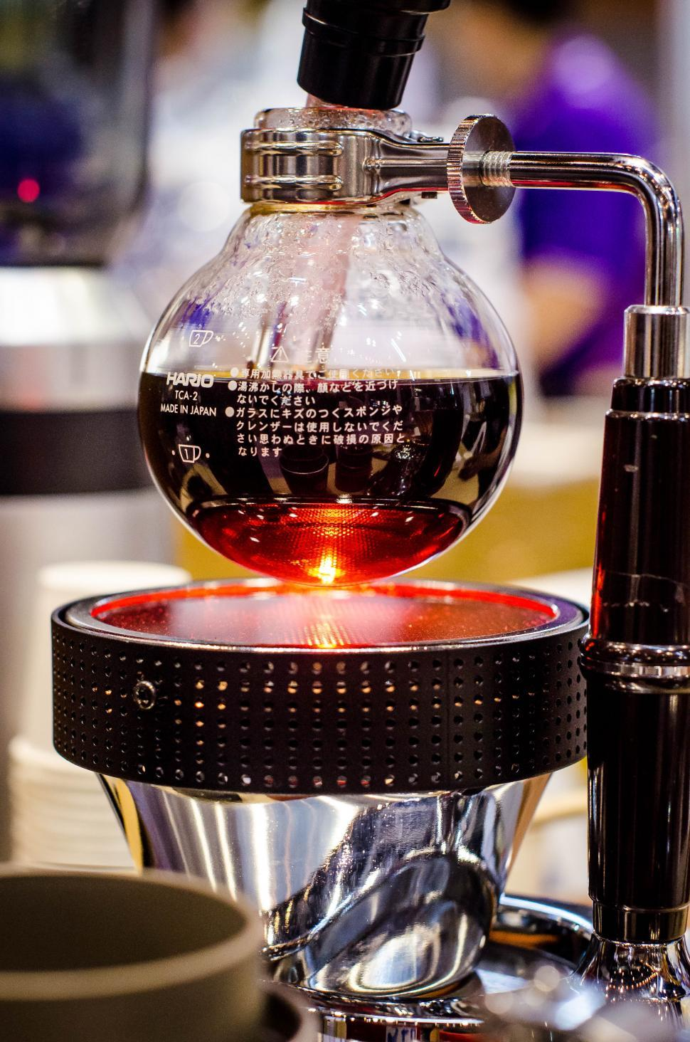 Download Free Stock HD Photo of Coffee maker over heat Online