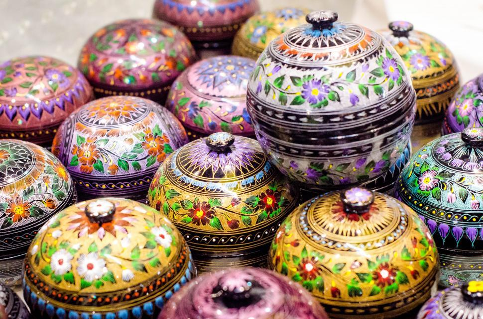 Download Free Stock HD Photo of Thai painted ornaments Online