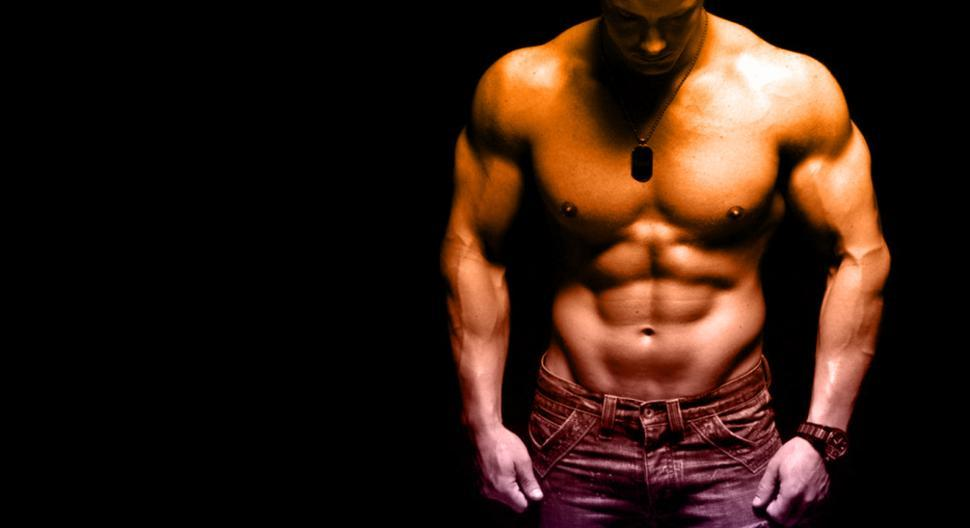 Download Free Stock HD Photo of Sculpted Male Body - With Copyspace Online
