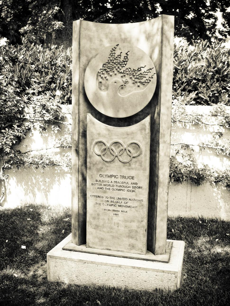 Download Free Stock HD Photo of Olympic truce monument Online
