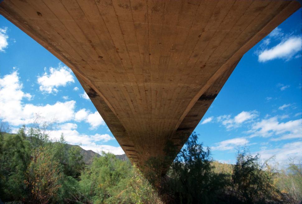 Download Free Stock HD Photo of Underside of concrete bridge Online