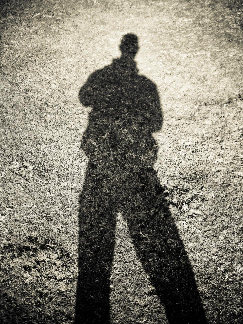 Download Free Stock HD Photo of one person shadow Online