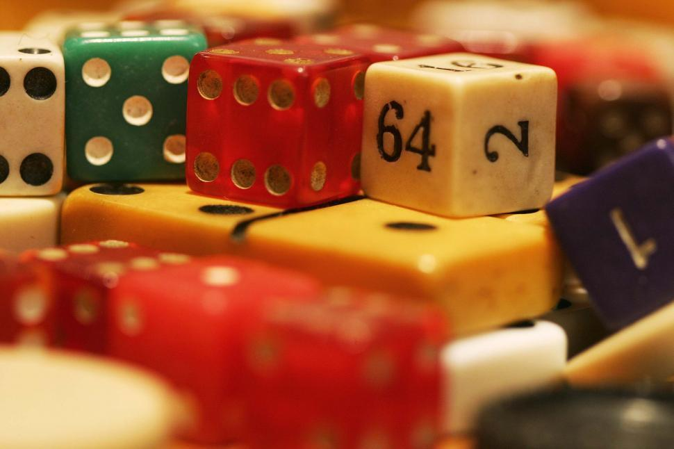 Download Free Stock HD Photo of Pile of dice and such Online