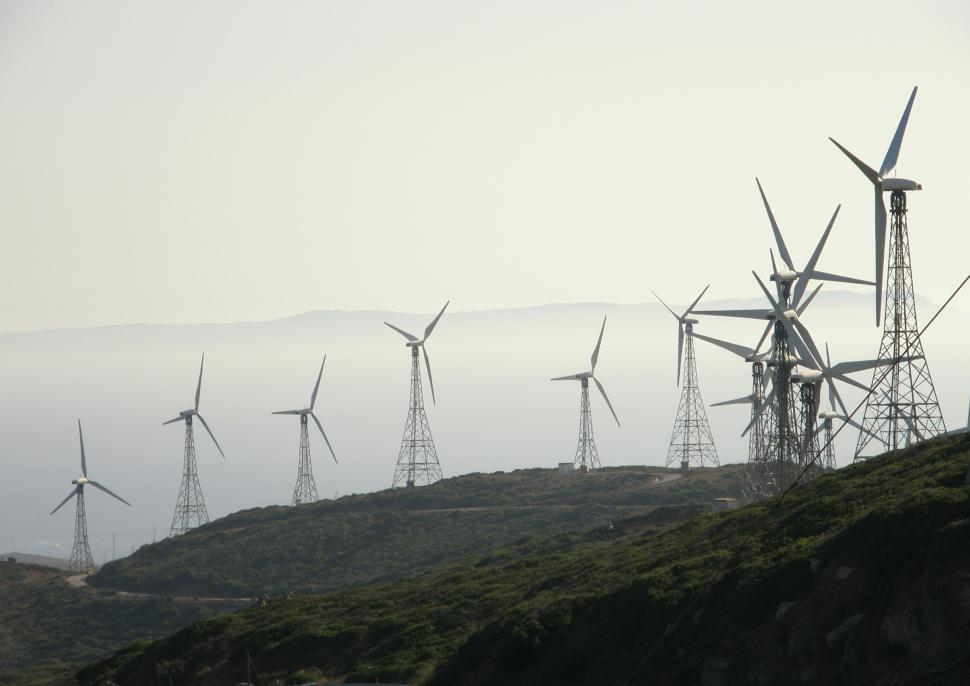 Download Free Stock HD Photo of Tarifa - wind turbine farm Online
