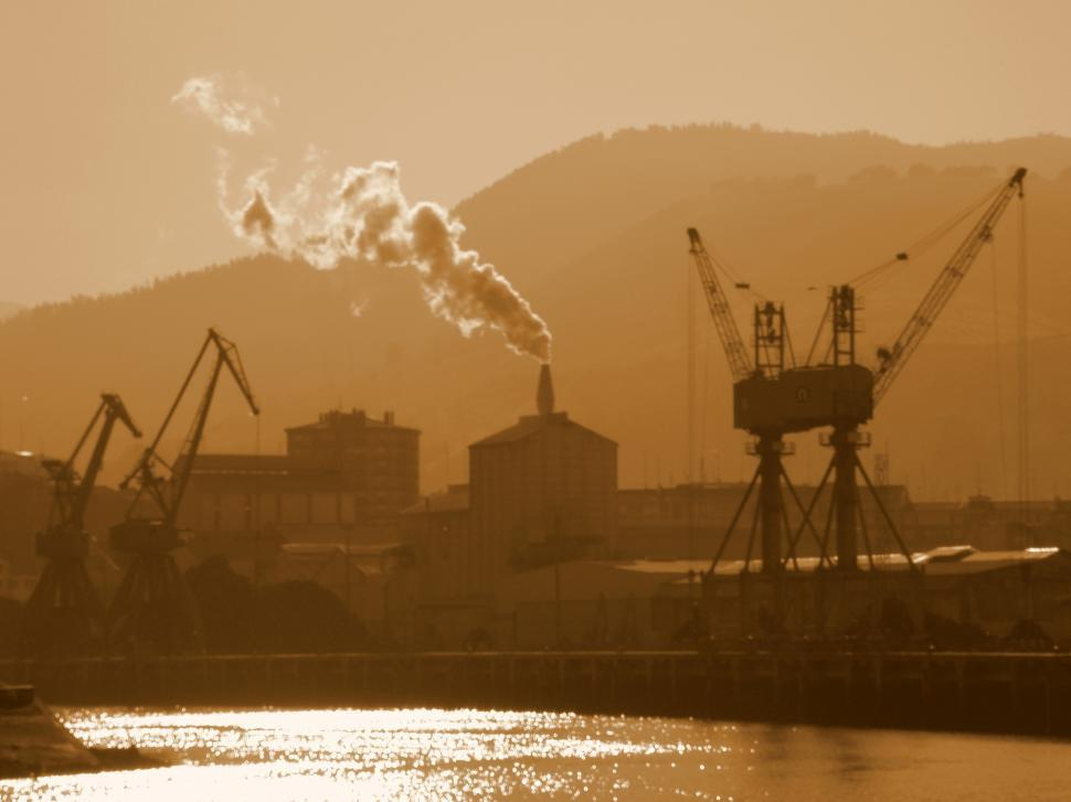 Download Free Stock HD Photo of industrial river Online