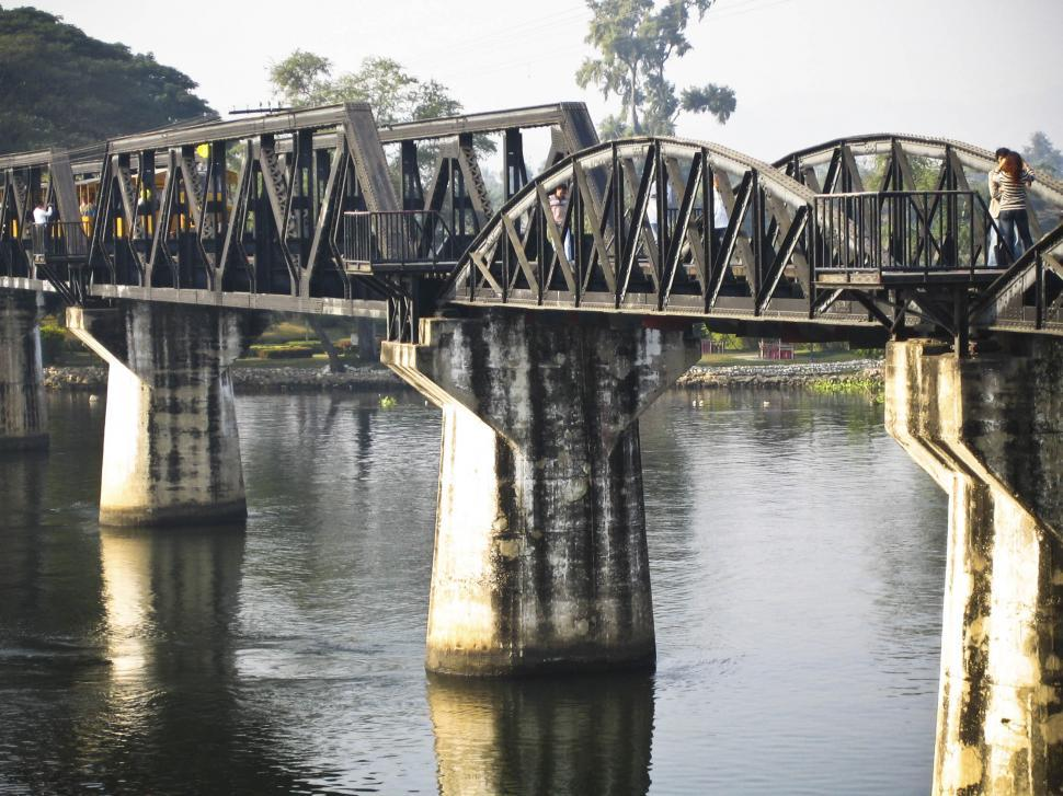 Download Free Stock HD Photo of River Kwai bridge details Online