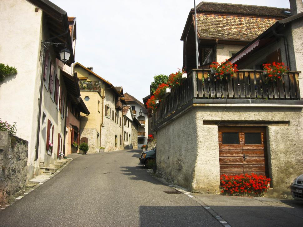 Download Free Stock HD Photo of swiss village Online