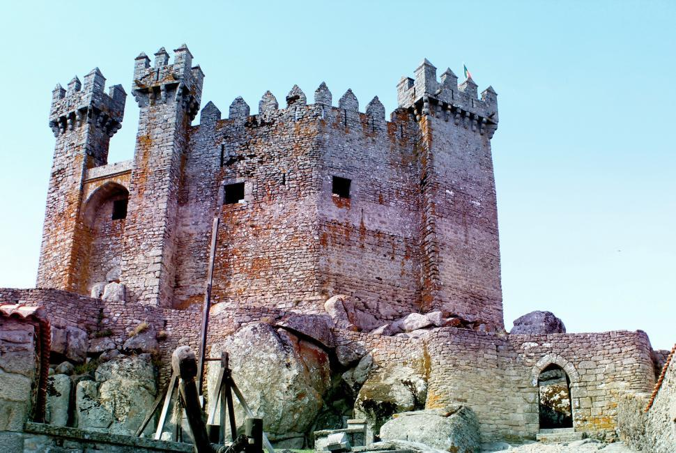 Download Free Stock HD Photo of Medieval Castle - Penedono - Northern Portugal Online