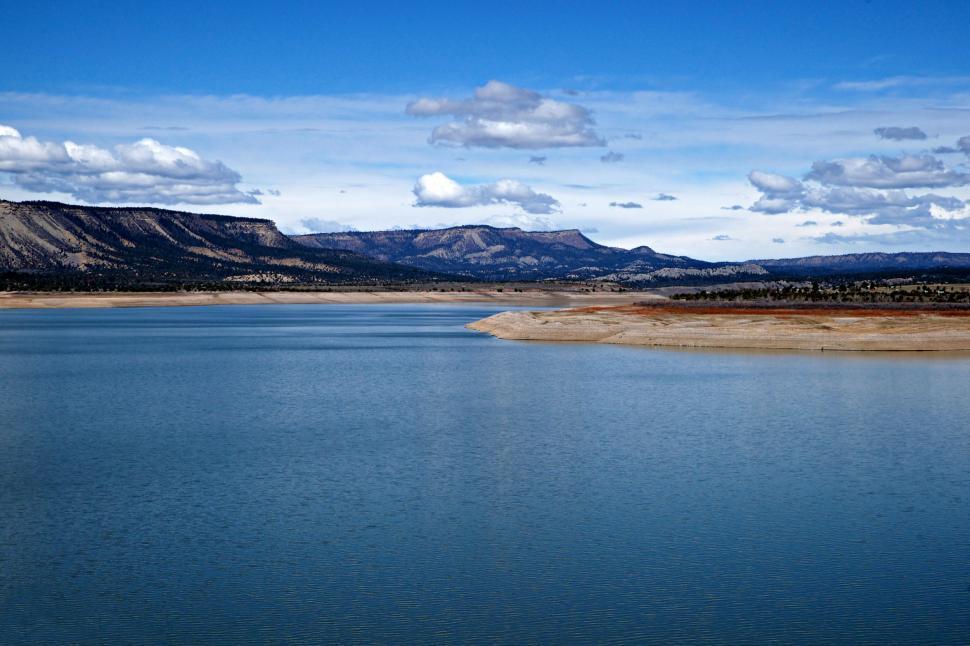 Download Free Stock HD Photo of El Vado Lake Blue Water  Online