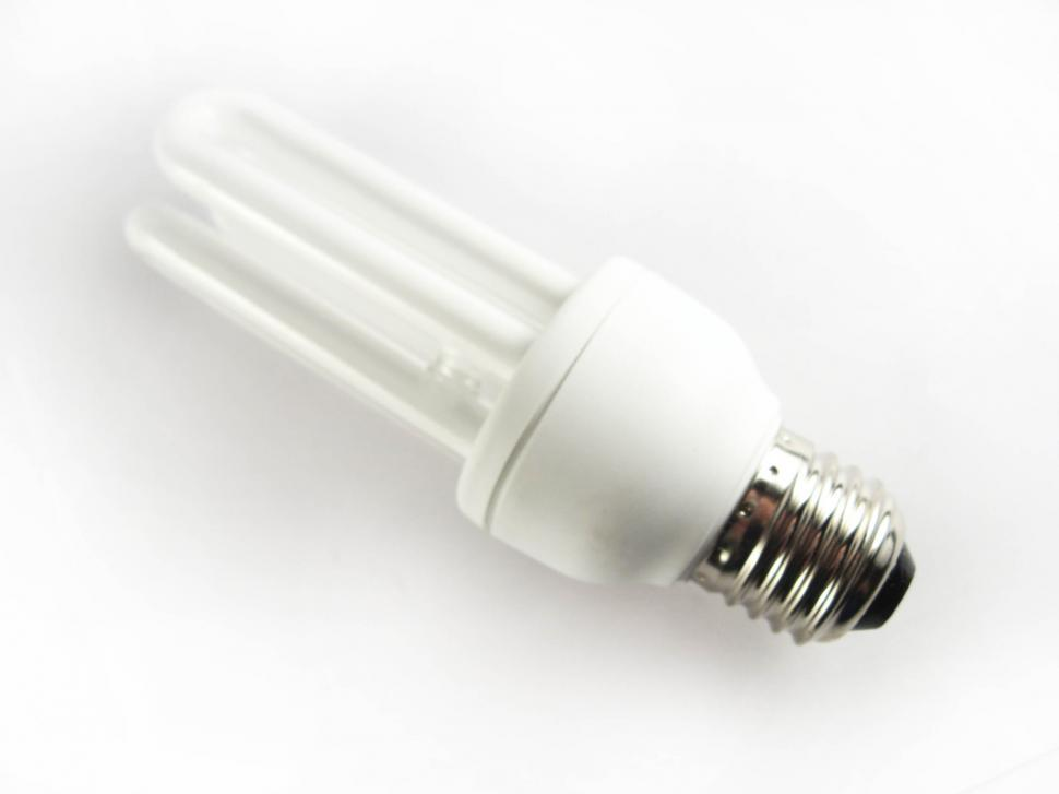 Download Free Stock HD Photo of CFL lightbulb Online