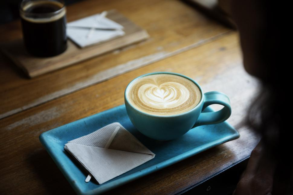 Download Free Stock HD Photo of Cappuccino in the Cafe Online