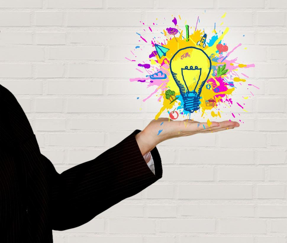 Download Free Stock HD Photo of Explosion of Ideas - Person Generating Ideas Online