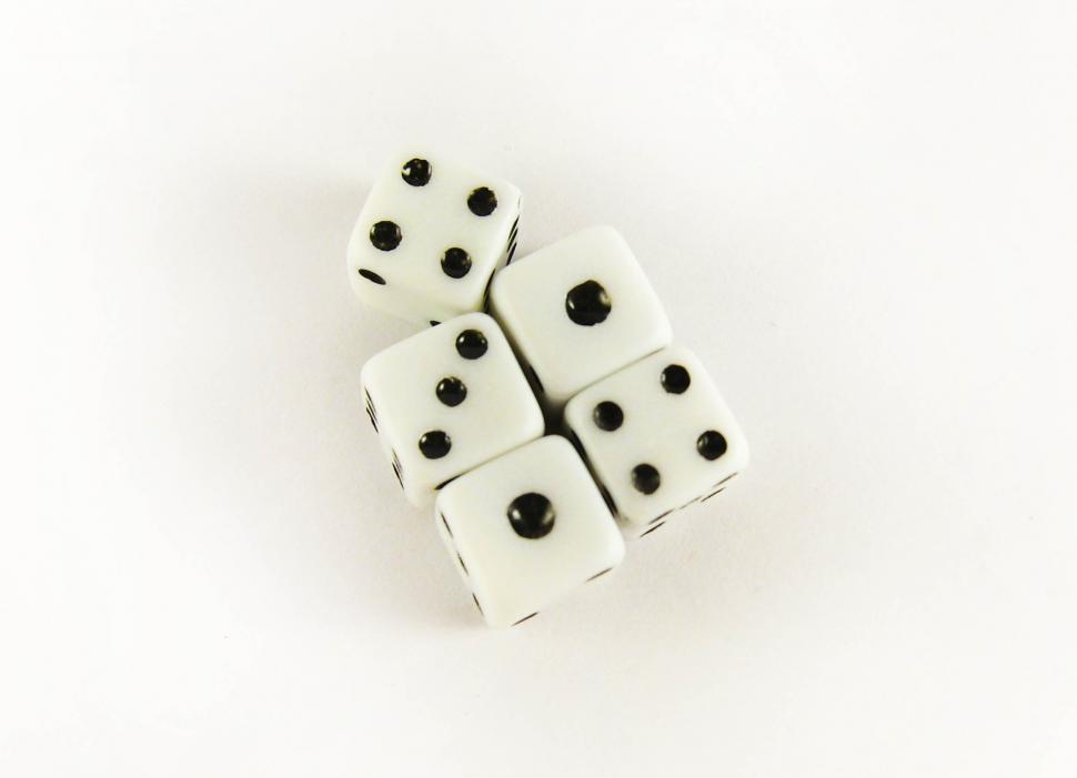 Download Free Stock HD Photo of Five dice Online