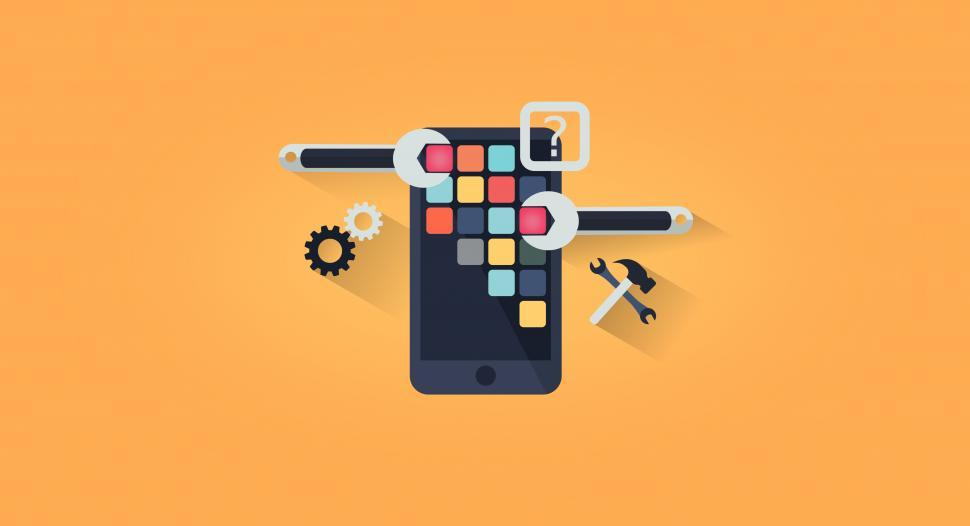 Download Free Stock HD Photo of App Development - App Design - Simple Illustration Online