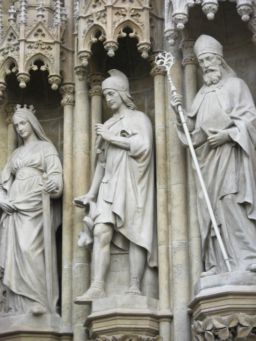 Free image of Carved figures at the Zagreb Cathedral, Zagreb, Croatia