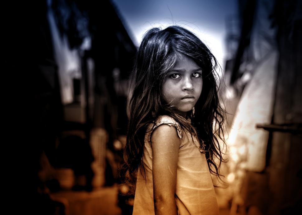 Download Free Stock HD Photo of Little Girl with Sad Eyes Online