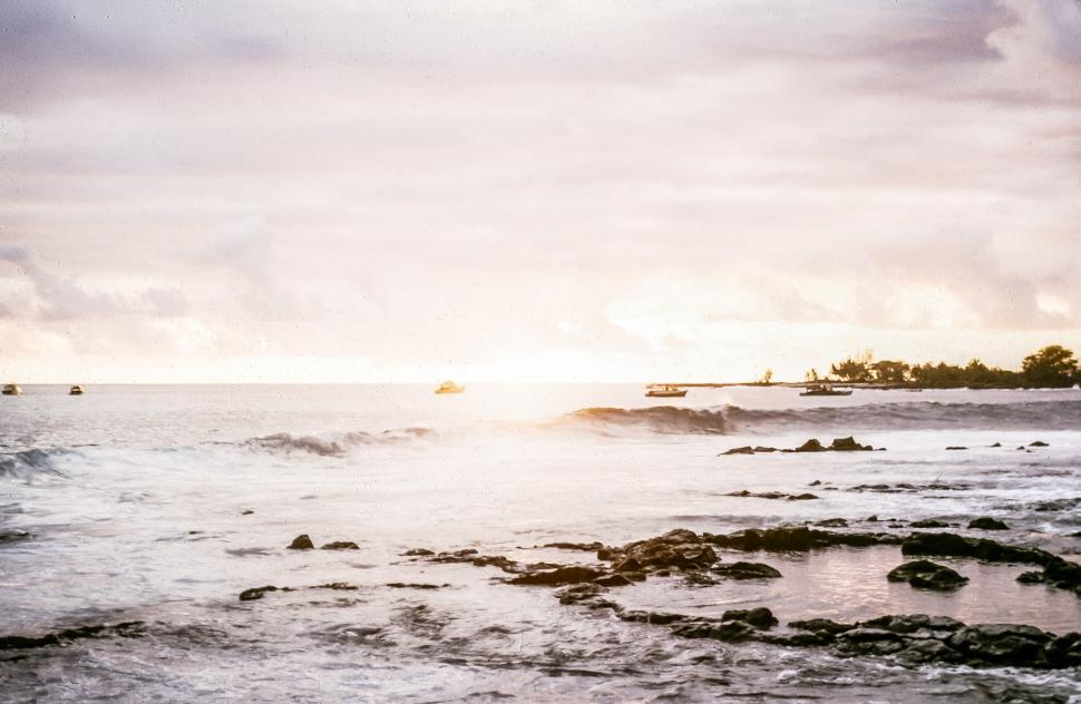 Download Free Stock HD Photo of Faded Ocean Seascape Online