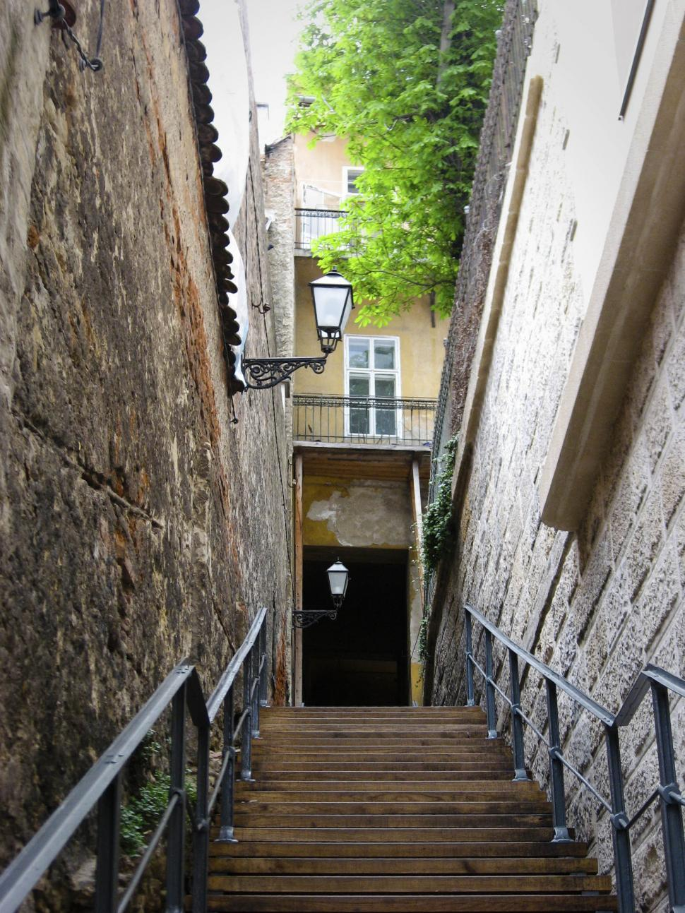 Download Free Stock HD Photo of old narrow street Online