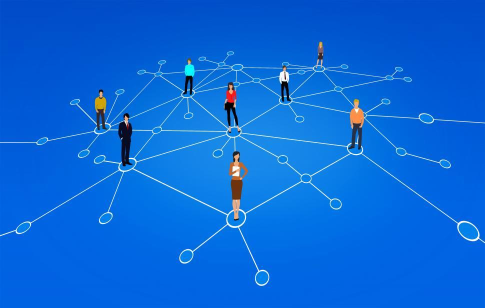 Download Free Stock HD Photo of A Network of People - Business People - Abstract Illustration Online