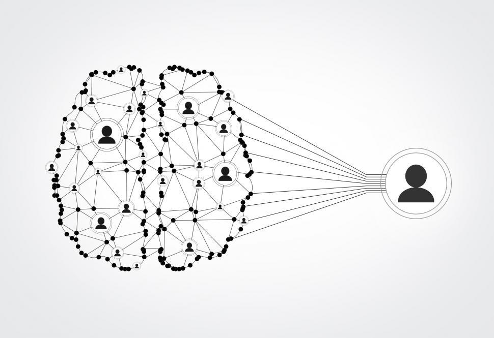 Download Free Stock HD Photo of Network of People - Brain Wired to Be Social Online
