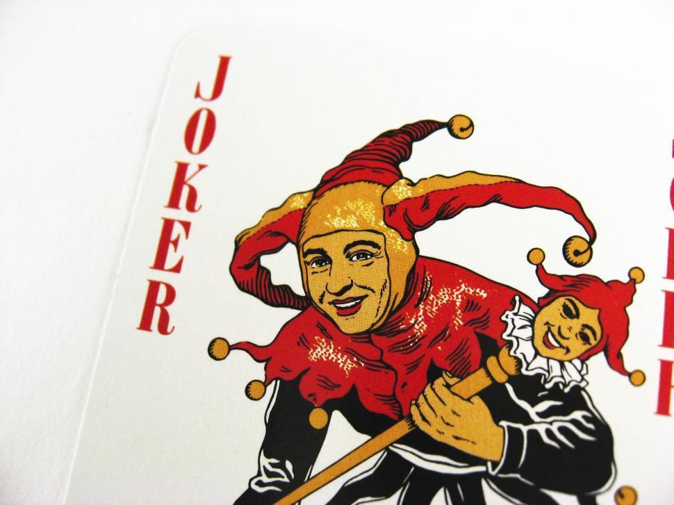 playing card - one joker