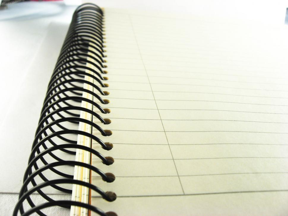 Download Free Stock HD Photo of notebook spiral binding Online