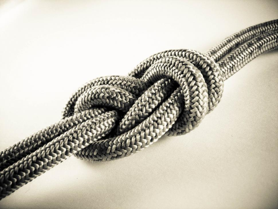 Download Free Stock HD Photo of alpinist rope knot Online
