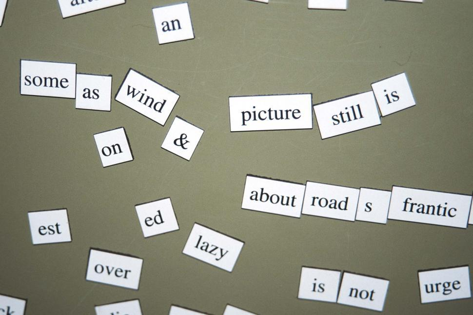 Download Free Stock HD Photo of Magnet Poems Online