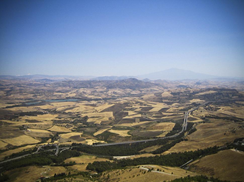Download Free Stock HD Photo of Land around Sicilian village Online