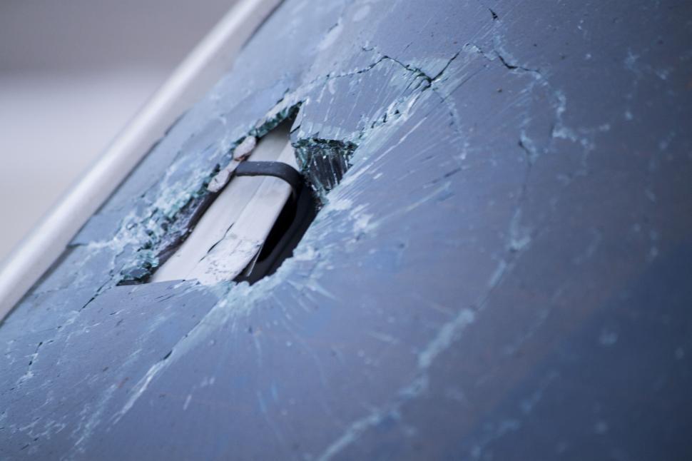 Download Free Stock HD Photo of Broken Car Window Online
