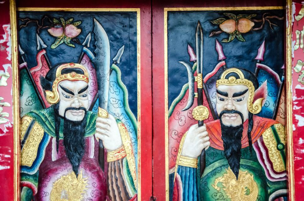 Download Free Stock HD Photo of Chinese Arts Style in Thai temple  Online