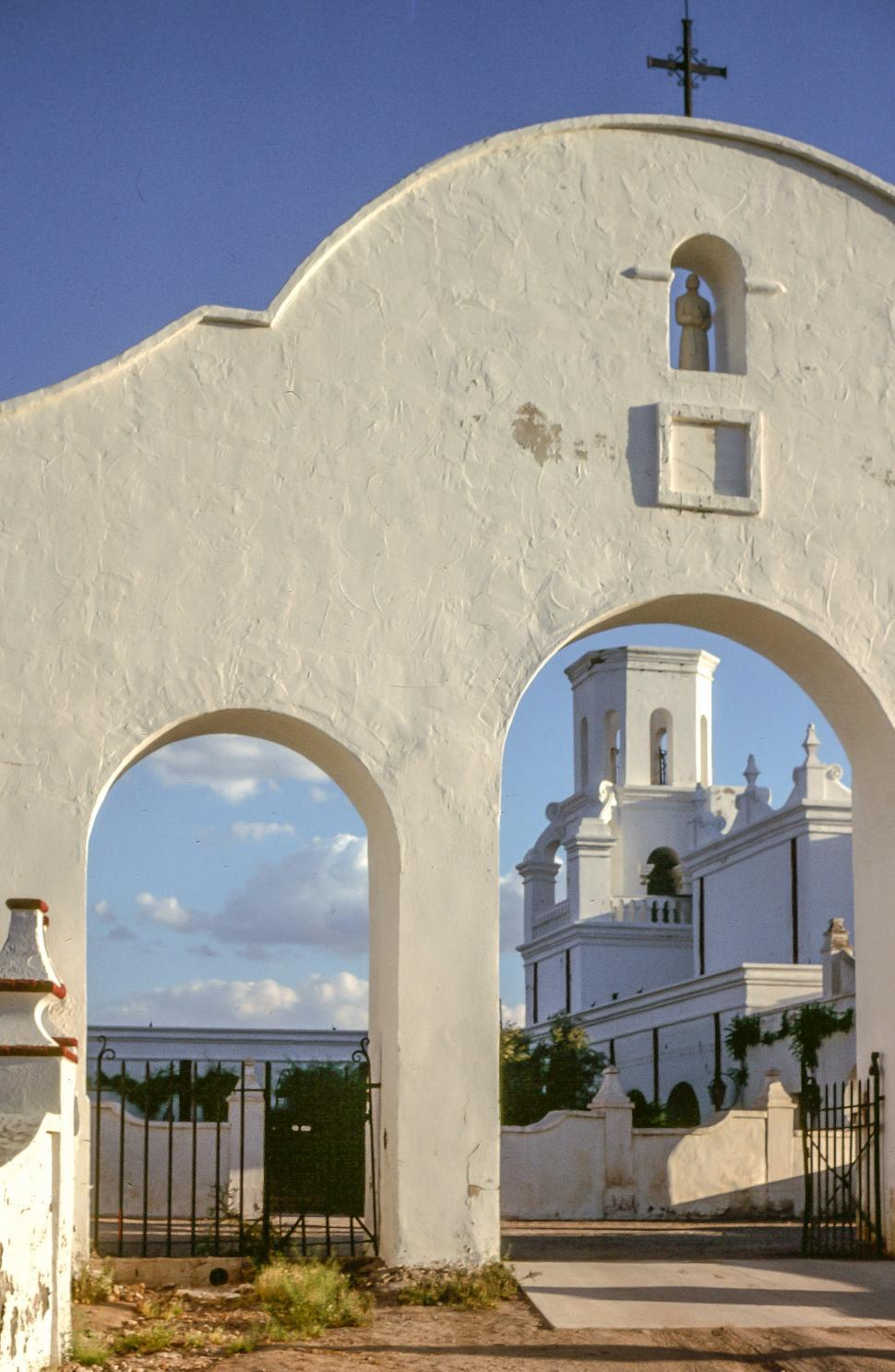 Download Free Stock HD Photo of Arches of San Xavier del Bac Online