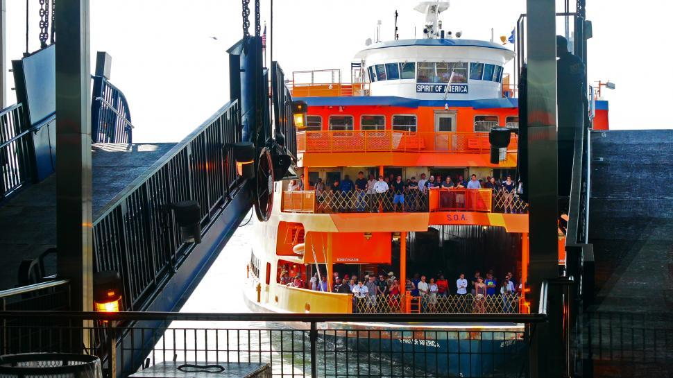Download Free Stock HD Photo of Staten Island Ferry Docking Online