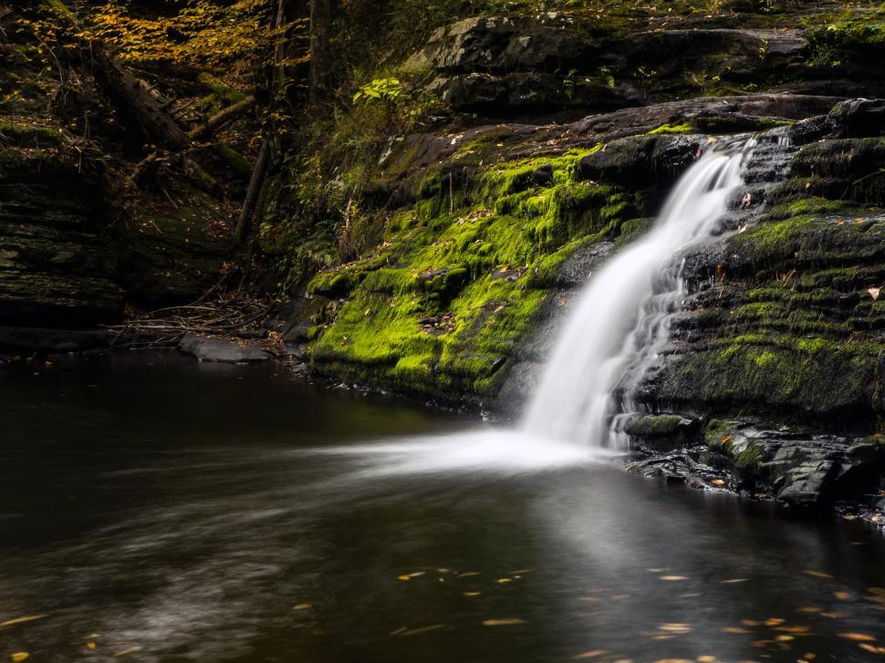 Download Free Stock HD Photo of Factory Falls and pool in Autumn Online