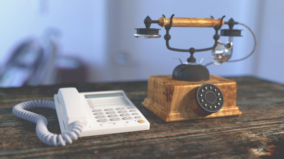 Download Free Stock HD Photo of Two Telephones Online