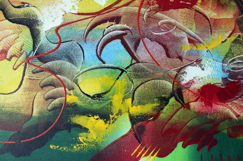 Get Free Stock Photos Of Detail Of A Bright Abstract Painted