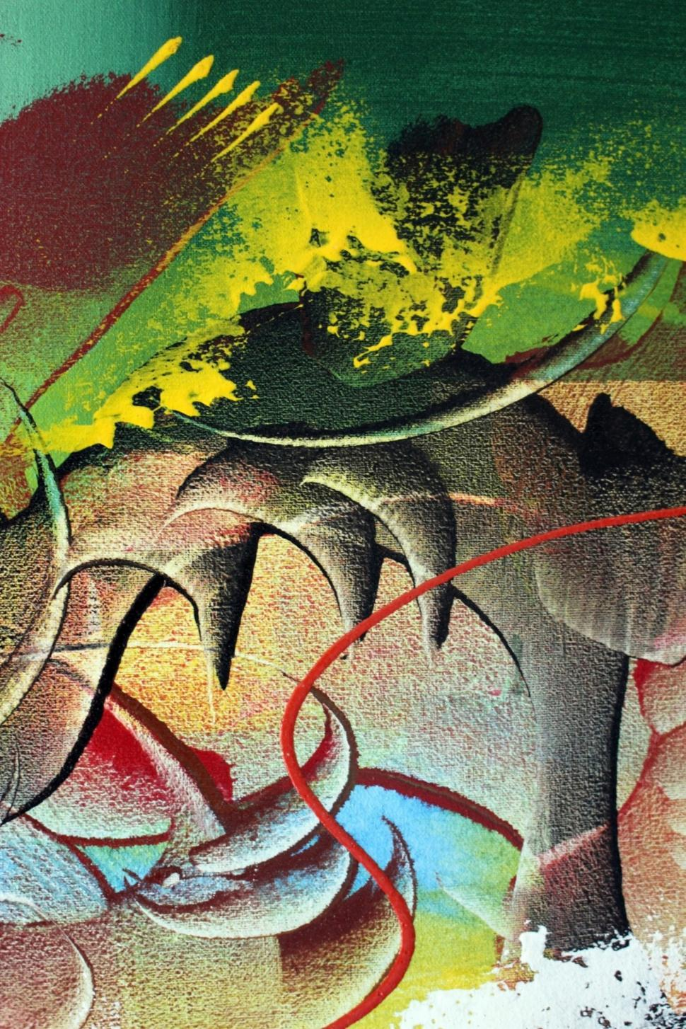 Download Free Stock HD Photo of Detail of a bright abstract painted art background  Online