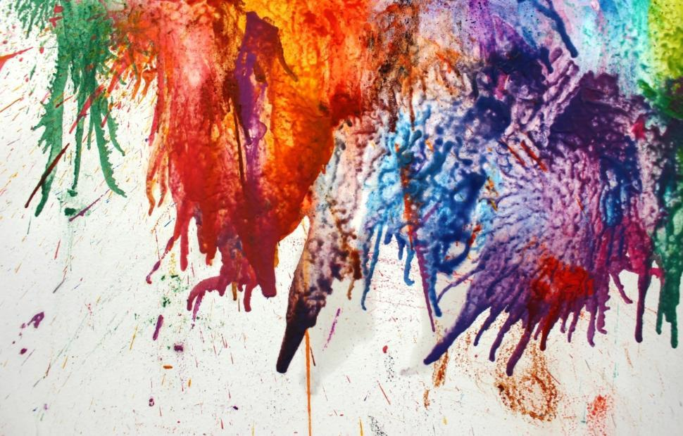 Download Free Stock HD Photo of Random Colorful Paint Splat Background   Online