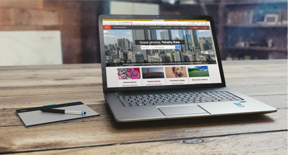Download Free Stock HD Photo of Laptop on the Table Online