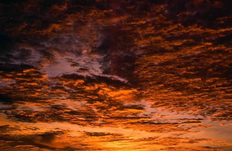 Download Free Stock HD Photo of Golden Sunset, Orange Clouds Online
